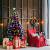 COSTWAY 150/180/210cm LED Künstlicher Weihnachtsbaum mit 8 Lichtmodi, Tannenbaum mit Metallständer, Christbaum mit Glasfaser-Farbwechsler und mehrfarbige Leuchten, Kunstbaum Weihnachten, grün (150cm) - 3