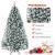 COSTWAY 180/225cm Künstlicher Weihnachtsbaum mit Schnee, Tannenbaum mit Metallständer, Christbaum PVC Nadeln, Kunstbaum Weihnachten Klappsystem ideal für Zuhause, Büro, Geschäfte und Hotels (180cm) - 4