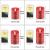 CPROSP 4er LED Kerzen Advent mit Fernbedienung aus Echtwachs, Flammenlose Rote Kerzen mit Timer, 7,5 x 9/10,5/12,5/15,5 cm, Deko für Hochzeit, Party, Weihnachten, Advent (2*AA, Erhhalten nicht) - 2