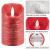 CPROSP 4er LED Kerzen Advent mit Fernbedienung aus Echtwachs, Flammenlose Rote Kerzen mit Timer, 7,5 x 9/10,5/12,5/15,5 cm, Deko für Hochzeit, Party, Weihnachten, Advent (2*AA, Erhhalten nicht) - 4