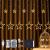 DazSpirit LED Lichtervorhang Weihnachten Sterne 2,5m mit 20 Haken und Fernbedienung, USB oder Batteriebetrieben, 8 Modi, Premium-Geschenkbox, Wasserdicht, Drinnen und Draußen (Warmweiß) - 1