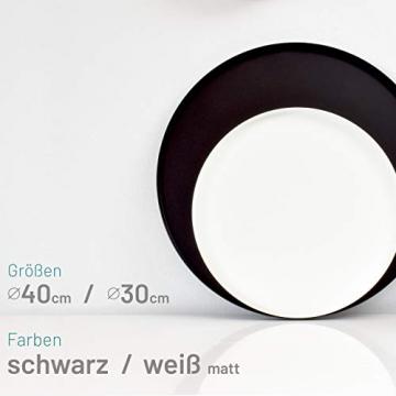 D&D Living Deko Tablett Rund Ø 30 cm   Design Dekoteller und Dekotablett aus Metall (Schwarz matt) - 4