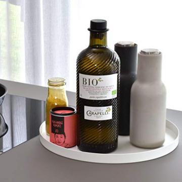 D&D Living Deko Tablett Rund Ø 30 cm   Design Dekoteller und Dekotablett aus Metall (Schwarz matt) - 6