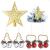 Dioxide 4 Stück Christbaumschmuck Metall Glöckchen rot weiß 1 Stück Weihnachtsbaumdekoration fünfzackiger Stern, Weihnachtsbaum-Dekoration, Hängeornament, Dekoration für Zuhause, Party - 1