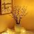 EAMBRITE 3er Set Lichterbaum Aussen Innen 60LEDs Wasserdichte Lichterzweige 76CM Warmweißes Zweiglicht Braun mit Netzstrom Betriebene LED Lampe Zweige Dekoration für Weihnachten Ostern Halloween - 2