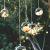 Ecosides 8cm 12 Hängenden Glaskugeln mit Loch,Hängend Teelichthalter aus Glas Kerzenhalter Windlichter Kristalle Terrarium Vase Sukkulenten Luftpflanzen Halter Hänge Deko für Hochzeit Garten - 1