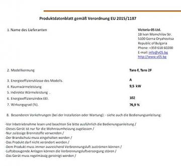 EEK A Kaminofen Victoria Taro F, gussgrau mit Backfach und Herdplatte - 4