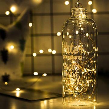Ehome Flaschenlicht 2M/12x 20 LED Flaschen-Licht Lichterkette flaschenlichterkette korken LED Nacht Licht Weinflasche Hochzeit Party romantische Deko (warm) - 3