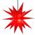 ETiME Adventsstern Weihnachtsstern Stern 3D Kunststoff Außenstern Lampe Fensterstern Deko Rot (Rot + Wasserdicht Kabel und Leuchtmittel) - 2