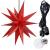 ETiME Adventsstern Weihnachtsstern Stern 3D Kunststoff Außenstern Lampe Fensterstern Deko Rot (Rot + Wasserdicht Kabel und Leuchtmittel) - 1