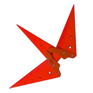 ETiME Adventsstern Weihnachtsstern Stern 3D Kunststoff Außenstern Lampe Fensterstern Deko Rot (Rot + Wasserdicht Kabel und Leuchtmittel) - 7