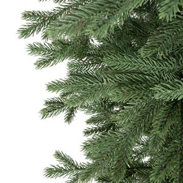 FairyTrees künstlicher Weihnachtsbaum ALPENTANNE Premium, Material Mix aus Spritzguss & PVC, Ständer aus Holz, 150cm, FT17-150 - 2