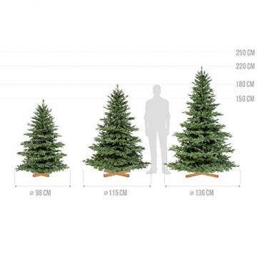 FairyTrees künstlicher Weihnachtsbaum ALPENTANNE Premium, Material Mix aus Spritzguss & PVC, Ständer aus Holz, 150cm, FT17-150 - 5