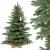 FairyTrees künstlicher Weihnachtsbaum ALPENTANNE Premium, Material Mix aus Spritzguss & PVC, Ständer aus Holz, 150cm, FT17-150 - 1