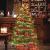 FairyTrees Weihnachtsbaum künstlich BAYERISCHE Tanne Premium, Material Mix aus Spritzguss & PVC, inkl. Holzständer, 180cm, FT23-180 - 3