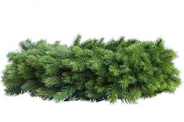 Flora-Seta GmbH Künstlicher Edel-Adventskranz Rory auf Drahtring, rundgebunden (ca. 55 cm) - 2