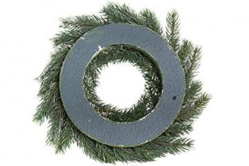 Flora-Seta GmbH künstlicher Tannenkranz Durchmesser ca. 40 cm auf Styroporunterlage - 3
