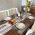 GODTEN Platzdeckchen (8er Set) Platzset Abwischbar - Hitzebeständig und Abgrifffeste Waschbare Tischmatte - Grau Tischset Kunststoff für Küche Speisetisch - 30x45cm (8er, A3) - 2