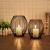 GoMaihe Oval Kerzenständer 2er Set, 14 x 15.5cm und 16 x 18cm Kerzenhalter Stabkerze Metall Deko Kerzenleuchter, Kreativ Vintage Kerzen Ständer für Weihnachts Hochzeit Essen, Schwarz.MEHRWEG - 1