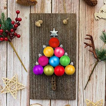 HBHS Christbaumkugeln, Suddefr Weihnachtskugel, 99 Teilig, 3CM, Weihnachtsbaumschmuck, Kunststoff, Baumschmuck für Urlaub, Hochzeit, Partydekoration. - 4