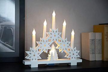 HEITMANN DECO LED-Lichterbogen aus Holz - Stimmungsleuchter - Schwibbogen - beleuchtete Weihnachtsdeko - weiß - für innen - 2