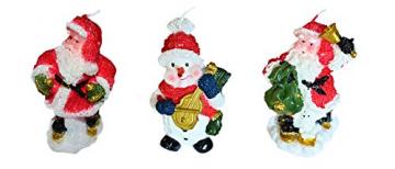 Helmecke & Hoffmann * 3er Set Weihnachtskerzen Weihnachtsdeko Tischdeko Adventdeko - 1
