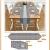 Hivexagon Platzsets und Tischläufer Set, Ellegant Tischdekoration für Hochzeit, Party, Thanksgiving,Weihnachten, mit Diamante Streifen und Quasten, Grau HG575 - 3