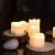 Homemory 12 Stück Teelichter Flackern mit Fernbedienung, Elektrische Batterie LED Kerzen, inklusive Batterien, Deko für Weihnachten, Hochzeit, Party, Warmweiße Lichter - 2