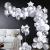iZoeL 100Stk Silber Weiß Luftballon Girlande Kit Konfetti Luftballon + Ballongirlande Streifen für Geburtstag Mann Hochzeit Taufe Junge (Silber) (Silber) - 1