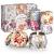 IZSUZEE Duftkerze Geschenkset 6 Stück (je 4,5 OZ), Natürliche Sojakerzen Kerze für Damen, Yoga Deko Duftkerzen Frauen Geschenke für Weihnachten Valentinstag Geburtstag Muttertag, Blumenduft, MEHRWEG - 1