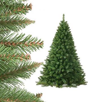 Jellywood künstlicher Weihnachtsbaum grüne Tanne, Tannenbaum Christbaum mit Metallständer:M 150cm Expressversand vor Weihnachten - 2