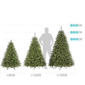 Jellywood künstlicher Weihnachtsbaum grüne Tanne, Tannenbaum Christbaum mit Metallständer:M 150cm Expressversand vor Weihnachten - 3