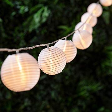 Joomer Solar Lichterkette Lampion Außen, 6M 30er LED IP65 Wasserdicht Lampion/Laternen Solar Lichterkette Auße Beleuchtung für Garten, Terrasse, Hof, Haus, Weihnachten Deko(Warmweiß) - 2