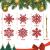 K KUMEED 36 Stück Weihnachtsbaum Deko Schneeflocken Deko Schneeflocken Christbaumschmuck Deko für den Weihnachtsbaum, Schneeflocken Weihnachtsbaum Christbaumschmuck Rot Weihnachtsbaum Schneeflocke - 2