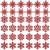 K KUMEED 36 Stück Weihnachtsbaum Deko Schneeflocken Deko Schneeflocken Christbaumschmuck Deko für den Weihnachtsbaum, Schneeflocken Weihnachtsbaum Christbaumschmuck Rot Weihnachtsbaum Schneeflocke - 1
