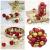 Kaishuai 48 Stück Gold deko Christbaumkugeln Set in 4 Farben, Weihnachtsbaumkugeln Gold aus & Rot Baumschmuck Weihnachtsbaum Deko & Christbaumschmuck,Christbaumkugeln Plastik - 4