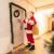 KATELUO Weihnachtskranz, Bowknot Türkranz Weihnachten Weihnachtsdeko Kranz Weihnachtsgirlande mit Kugeln Handarbeit Weihnachten Garland Deko-Kranz, für Hochzeit, Party, Garten, Wanddekoration - 4