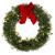 KATELUO Weihnachtskranz, Bowknot Türkranz Weihnachten Weihnachtsdeko Kranz Weihnachtsgirlande mit Kugeln Handarbeit Weihnachten Garland Deko-Kranz, für Hochzeit, Party, Garten, Wanddekoration - 1