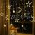 Kelisidunaec LED Lichterketten Vorhang 3.5M Stern Mond Lichter LED Lichterkette Deko, Lichtervorhang Vorhanglichter Fenster Schlafzimmer Wohnzimmer Zimmer Hochzeit Party Terrasse Dekoration - 2