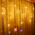 Kelisidunaec LED Lichterketten Vorhang 3.5M Stern Mond Lichter LED Lichterkette Deko, Lichtervorhang Vorhanglichter Fenster Schlafzimmer Wohnzimmer Zimmer Hochzeit Party Terrasse Dekoration - 3