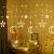 Kelisidunaec LED Lichterketten Vorhang 3.5M Stern Mond Lichter LED Lichterkette Deko, Lichtervorhang Vorhanglichter Fenster Schlafzimmer Wohnzimmer Zimmer Hochzeit Party Terrasse Dekoration - 1
