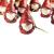 khevga 12er Set Christbaumschmuck aus Terracotta Weihnachtsmann Wichtel rot - Deko-Hänger Weihnachten - 2