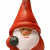 khevga 12er Set Christbaumschmuck aus Terracotta Weihnachtsmann Wichtel rot - Deko-Hänger Weihnachten - 4