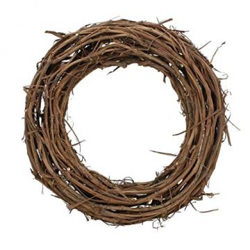 Kranz Rustikal aus Rattan Ø 50 cm, Natur Wand Tisch Tür Deko Holz Weiden Reben - 2