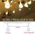 Kugel Lichterkette Batterie 6M 40LED mit 8 Modi Silberdraht Wasserdicht Weihnachtsbeleuchtung außen innen für Schlafzimmer Gläser Camping Hochzeitsfeier Festival Baumschmuck (Warmweiß) - 2