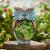 La Jolíe Muse Gartendeko Eule Solar Leuchte, aus Kunstharz Wetterfest, Weihnachten Geschenk Eule, Gartenfigur Ornament für draußen Hof & Balkon H27 x W16cm - 4