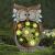 La Jolíe Muse Gartendeko Eule Solar Leuchte, aus Kunstharz Wetterfest, Weihnachten Geschenk Eule, Gartenfigur Ornament für draußen Hof & Balkon H27 x W16cm - 1