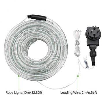LE 10m LED Lichterschlauch 240 LEDs wasserfest Warmweiß für Innen Außen Party Hochzeit Weihnachten Dekolicht Warmweiß - 2