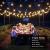 LE Solar Lichterkette Glühbirnen Aussen, 7.62M 25 LEDs G40 Außen Beleuchtung, USB wiederaufladbar, 4 Modus Solarlichterkette für Garten, Hochzeit, Balkon, Haus, Weihnachten Deko, Warmweiß - 3