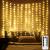 LED Fenster Vorhang Lichter, Foto Hintergrund Lichter Warmweiße Twinkle Lichterketten mit Fernbedienung für Hochzeitsfeier Schlafzimmer Wand Weihnachten 6,5 x 5 ft - 1